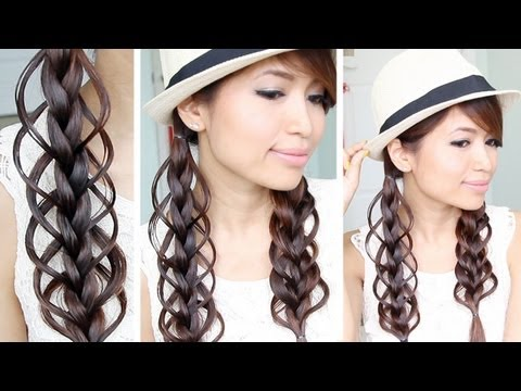 Feather Loop Braid Hair Tutorial Hairstyle – Bebexo