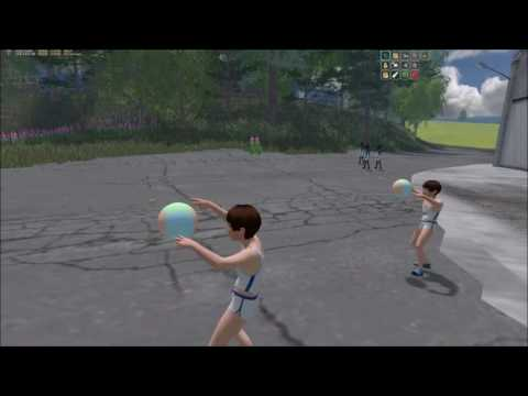Little boy volleyball