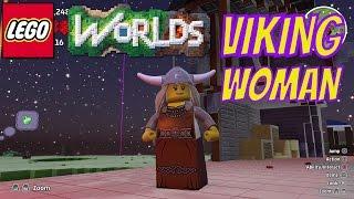 LEGO Worlds Viking Woman Unlock and Free Roam Gameplay