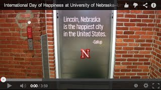 Lincoln (NE) United States  City new picture : International Day of Happiness at University of Nebraska-Lincoln