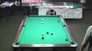 2010 Texas Open 9 Ball - Brandon Shuff Vs. Gordy Vanderveer