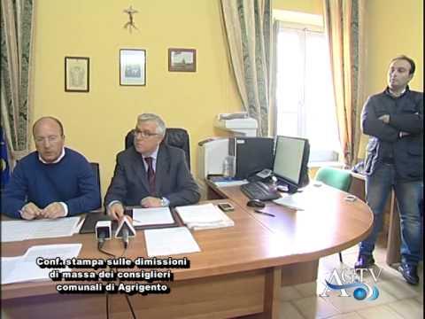 09/02/2015 Agrigento, conferenza stampa dimissioni consiglieri comunali AgrigentoTV