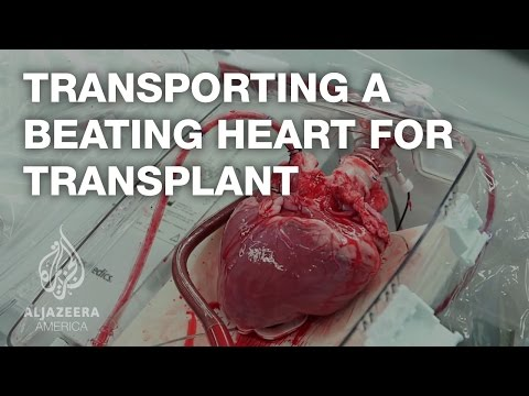 Transporting a beating heart for transplant!