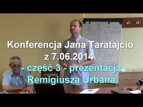 Konferencja Jana Taratajcio z 7.06.2014 - część 3 - Remigiusz Urban