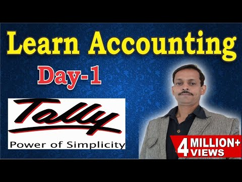 Tally Erp 9 Complete Basic Accounting Class with Example (HINDI)-Day 1|Journal Entries example Tally