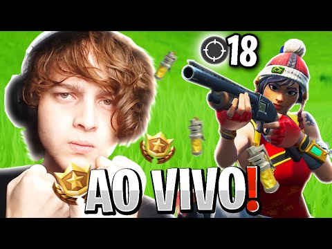 FIZ 18 KILLS AO VIVO E DEI AULA NA STREAM! L FORTNITE