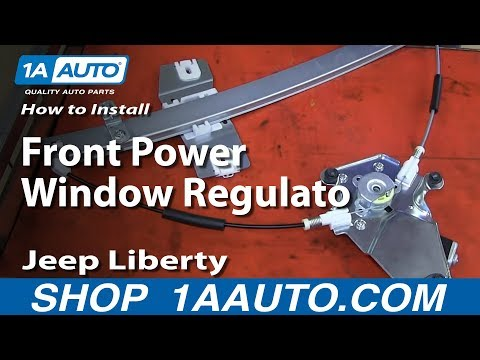Full video how to install replace front power window for 2002 jeep window regulator