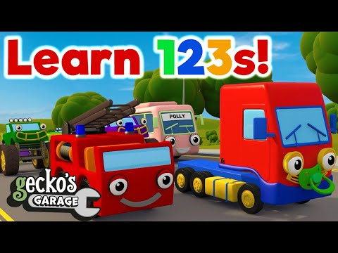 Counting 10 Baby Trucks|Learn 123s!|Home Learning For Kids|Early Education|Toddler Fun Learning