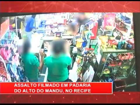 [RONDA GERAL] Assalto filmado em padaria do Alto do Mandu, no Recife