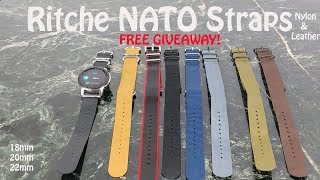 Galaxy watch Ritche NATO Nylon & Leather Bands : The Review and Free Giveaway