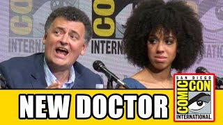 Steven Moffat says backlash to Jodie Whittaker's casting as the new Doctor is not true at the Doctor Who Comic Con panel. Subscribe for more!
