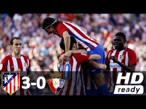 Atletico Madrid vs Osasuna 3-0 - All Goals and Highlights - La Liga (15/04/2017) HD