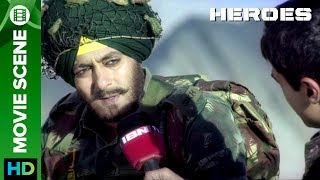 Salman Khan, a Sikh soldier of the Indian Army is interviewed about his experiences about the war, his patriotism and family. He also writes letter to the family with full of hopes.Click to watch full movie online :- http://erosnow.com/movie/watch/1000238/heroesFilm – HeroesMusic – Sajid-Wajid & Monty SharmaActor – Salman Khan, Sohail Khan, Mithun Chakraborty, Sunny Deol, Bobby Deol, Preity ZintaProduced by – Vikas Kapoor, Bharat ShahDirected by - Samir KarnikTo watch more log on to http://www.erosnow.com/For all the updates on our movies and more:https://twitter.com/#!/ErosNowhttps://www.facebook.com/ErosNowhttps://plus.google.com/+erosentertai...http://www.dailymotion.com/ErosNow