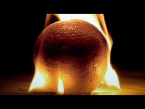 How - I show you how to make fire using only an orange a stick and a rock..... watch this http://www.youtube.com/watch?v=fMyYlf6yFcg........... how to cut the top ...