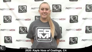 2020 Kayla Voss Pitcher and Second Base Softball Skills Video - Firecrackers