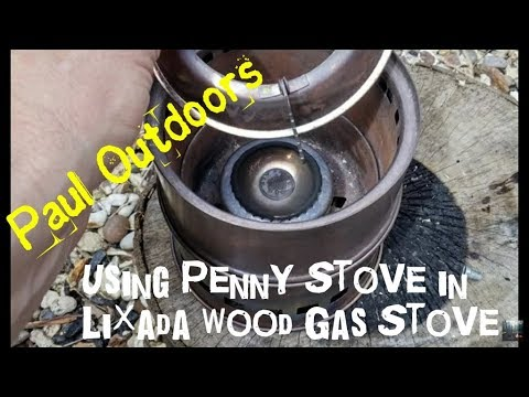 Penny Alcohol Stove used inside my Wood Gas Stove