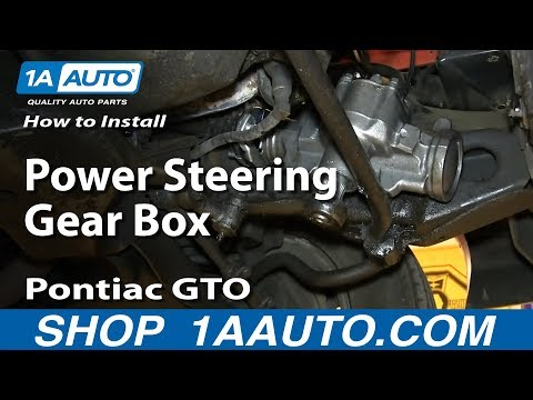 How To Install Replace Power Steering Gear Box 1964-73 Pontiac GTO