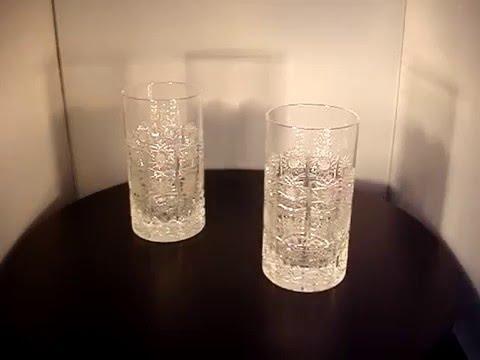 Water crystal glasses