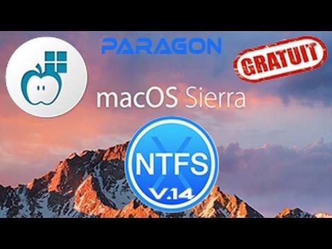 Paragon NTFS 14 Compatible avec MAC OS X Sierra 10.12
