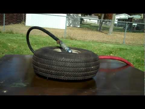 30 PSI tire explodes after being filed with 150 PSI