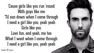 Video Maroon 5 - GIRLS LIKE YOU (Lyrics) ft. Cardi B MP3, 3GP, MP4, WEBM, AVI, FLV Juli 2018