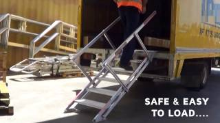 PORTABLE TRUCK ACCESS STAIRS