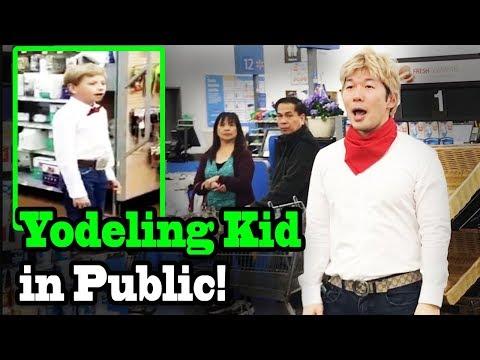 YODELING IN WALMART - SINGING IN PUBLIC!!! (Yodeling kid)