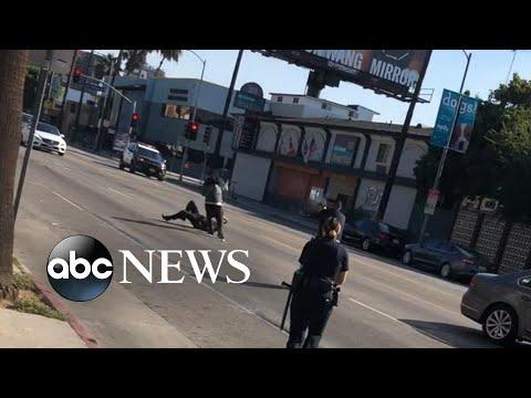 Police kill man wielding machete in Hollywood