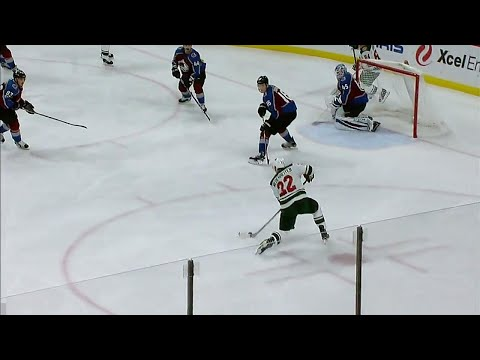 Video: Wild's Niederreiter ties game versus Avalanche after feed from Koivu