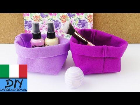 DIY contenitore di stoffa | come cucire un piccolo cestino per il bagno e per un regalo