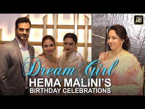 Celebs Attend Hema Malini's Birthday Celebrations.