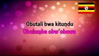 Yesu Mulokozi wange Leero nze wuwo wekka Omusaayi gwo gunnaazizza Yesu Mwana gw'endiga (GLORY GLORY HALLELUJAH) in Africa also sang in ...