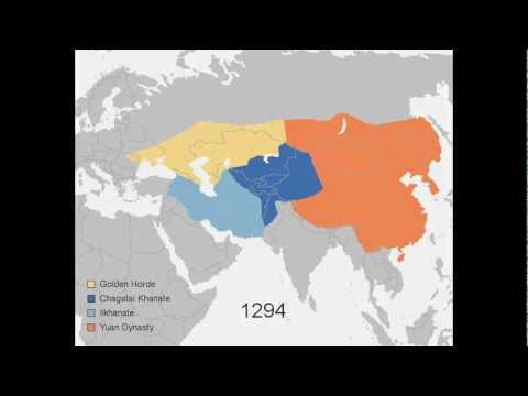 Growth of the Mongol Empire, 1206-1294  ✔