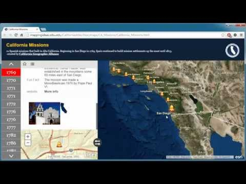 How to Use the California Missions Story Map