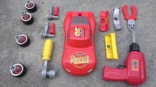 Disney Cars 3 Race Ready Lightning McQueen Tool Set Custom Car Toys