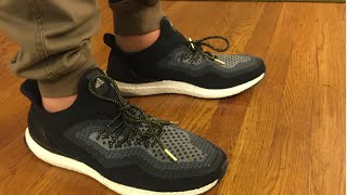 Adidas Ultra Boost Uncaged Core Black On Feet