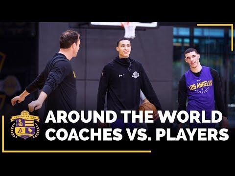 Video: Players Vs. Coaches: Lakers Shooting Competition (Lonzo & Kuzma Vs. Walton & Shaw)