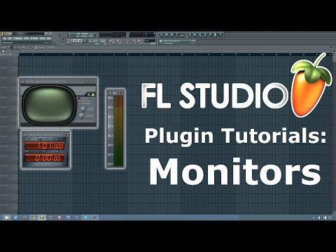 FL Studio Tutorial- Fruity Big Clock, dB Meter, and Spectroman