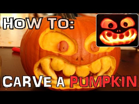 How to carve a scary pumpkin for Halloween with knife only