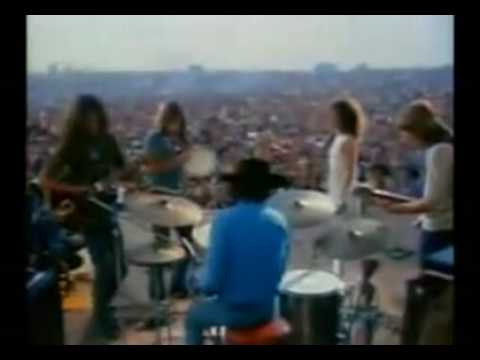Woodstock - Jefferson Airplane's diamonds performed at Woodstock, on 17th August 1969 .