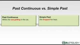 Past Continuous Vs. Simple Past