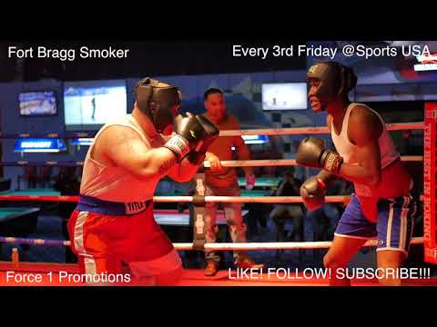 Fights! Ameture Boxing! Fort Bragg Smoker - Feb - Final Match #Butterbean of Ft Bragg