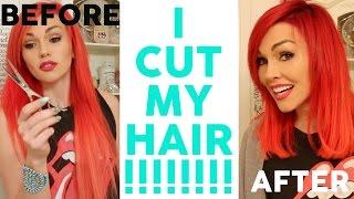 MY NEW HAIR!! I CUT IT!!!! by Kandee Johnson