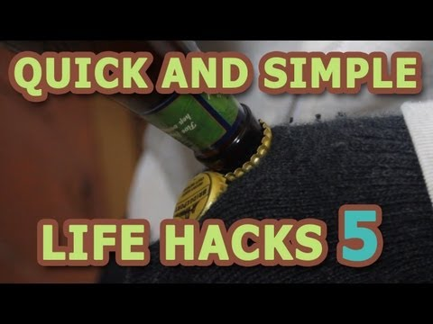 Quick and Simple Life Hacks – Open a Bear Bottle with No Bottle Opener