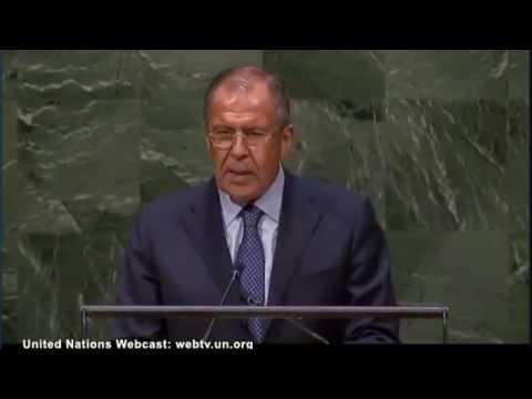 выступление С.Лаврова на 69-й сессии Генеральной Ассамблеи ООН 27.09.2014 (видео)
