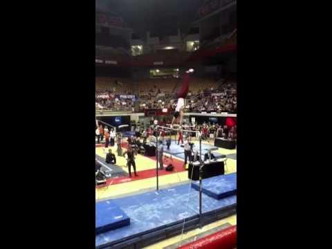 2011 NCAA gymnastics championships HB EF - Alex Buscaglia - 1st