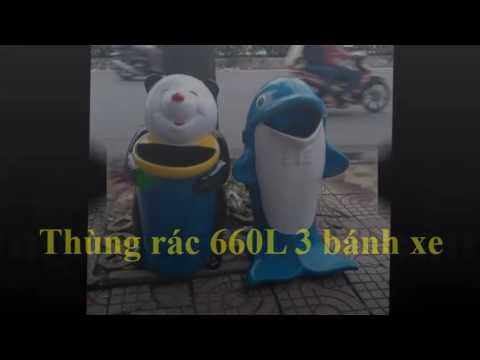 Thùng rác nhựa công cộng Phước Đạt giá rẻ