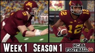 NCAA Football 14 Dynasty - Week 1 vs UNLV - Season 1 Opener