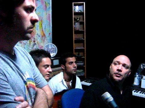 La band in studio