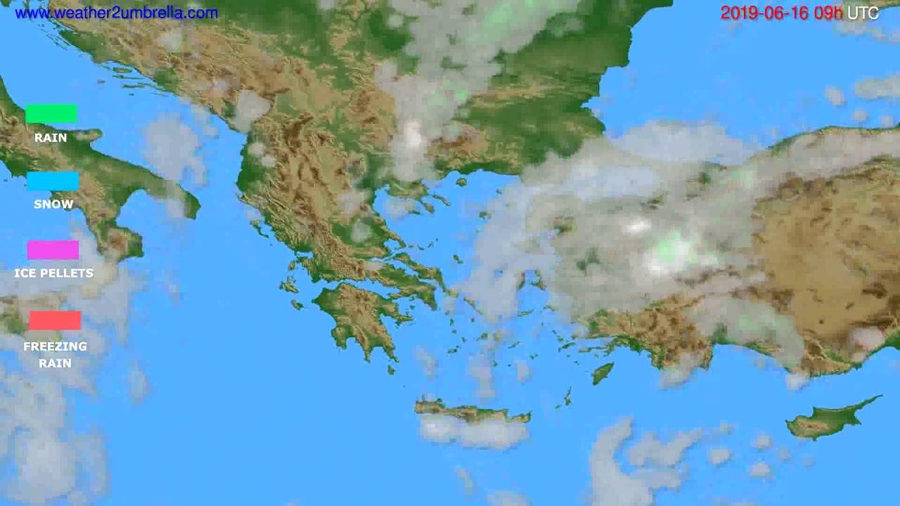 Precipitation forecast Greece // modelrun: 12h UTC 2019-06-14